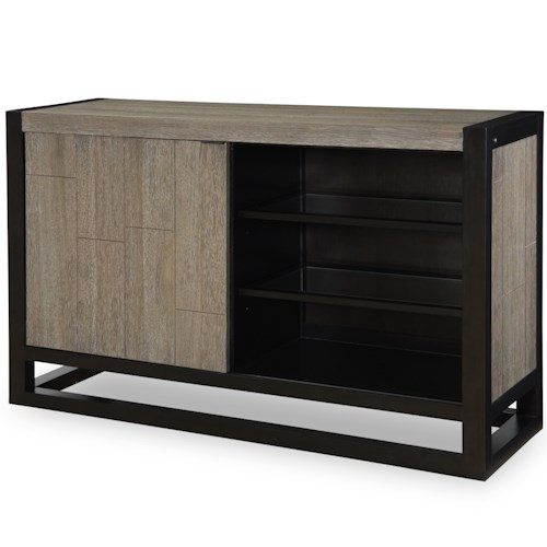 Legacy Classic Helix Credenza with Sliding Door and Light