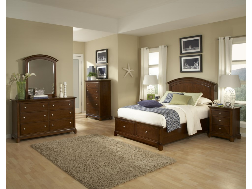 Shown in Full Size with Nightstand, Drawer Chest, Dresser and Dresser Mirror