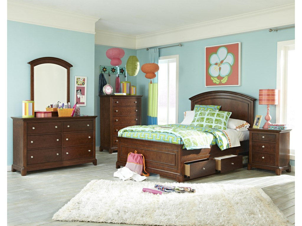 Shown with Arched Panel Bed, Nightstand, Drawer Chest, Dresser and Dresser Mirror