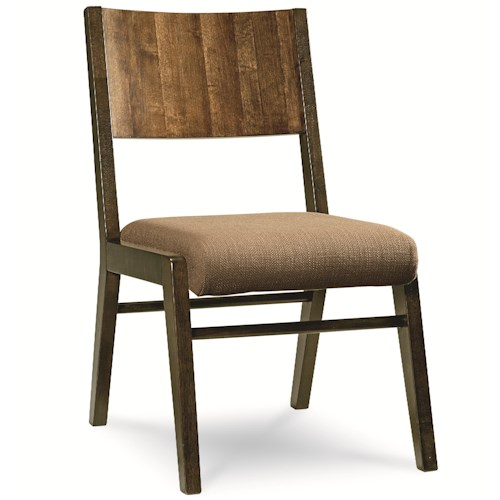 Legacy Classic Kateri Side Chair with Wood Back and Upholstered Seat