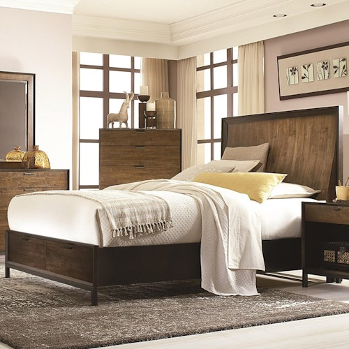 Legacy Classic Kateri Complete Curved Panel Cal. King Bed with Storage