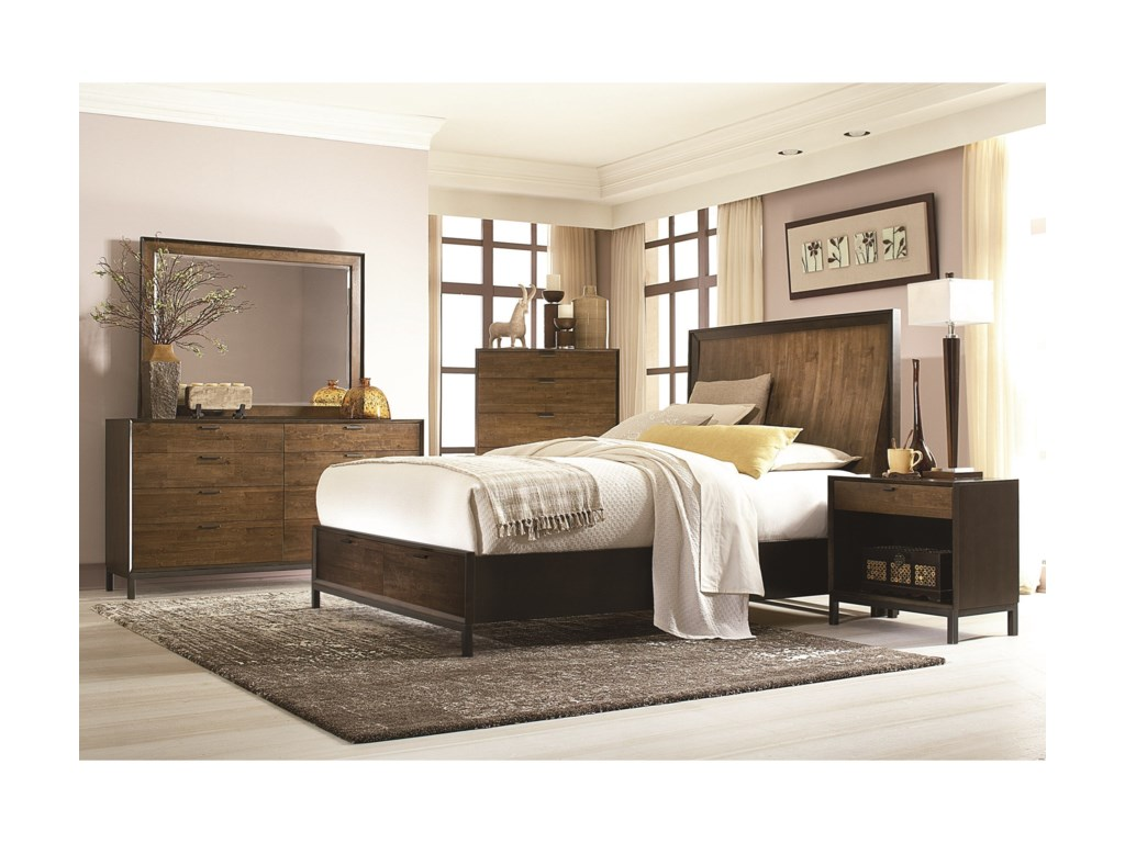 Legacy Classic KateriCal. King Panel Bed w/ Storage