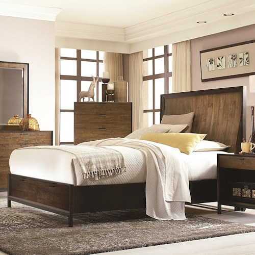 Legacy Classic Kateri Complete Curved Panel Queen Bed with Storage