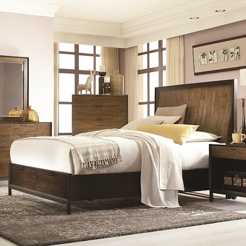 Legacy Classic Kateri Complete Curved Panel King Bed with Storage