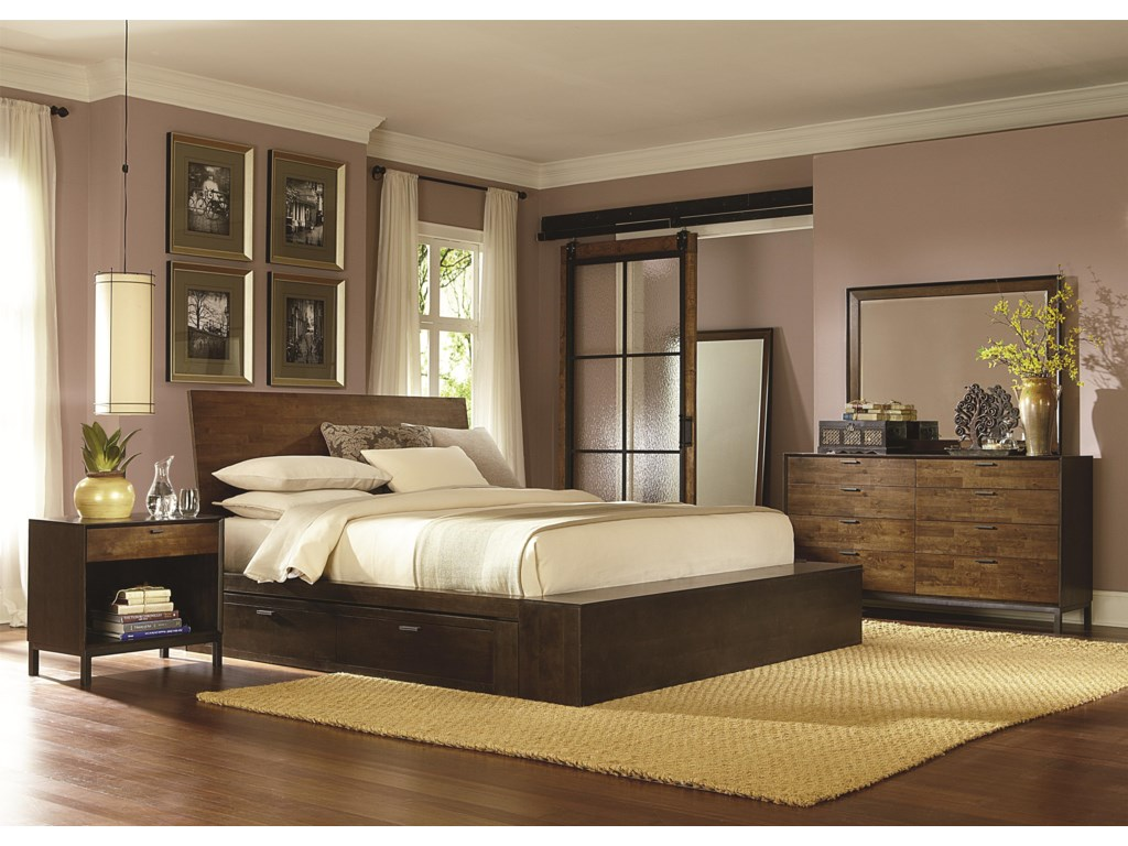 Legacy Classic KateriQueen Platform Bed w/ Two Storage Drawers