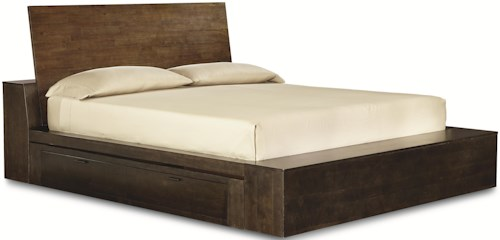 Legacy Classic Kateri Complete Platform King Bed with One Storage Drawer