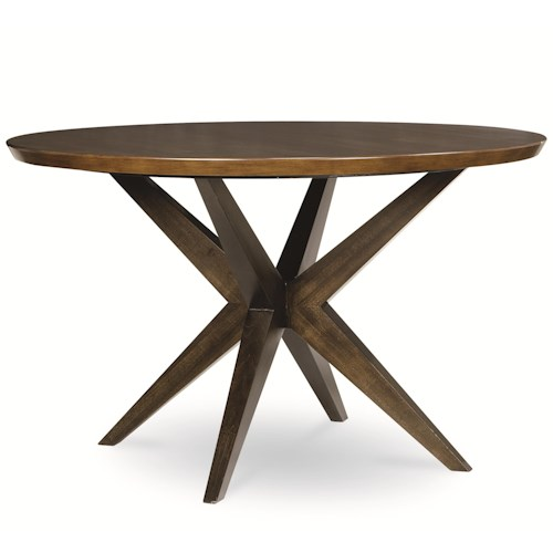 Legacy Classic Kateri Round Table with Pedestal Bottom in Hazelnut Finish