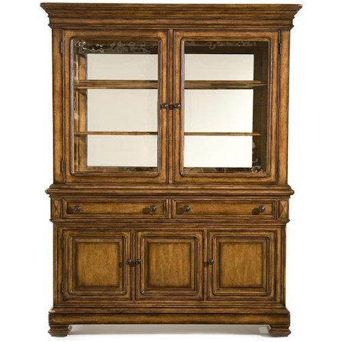 Legacy Classic Larkspur China Cabinet with Seeded Glass Doors
