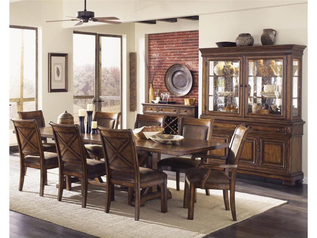Shown with Trestle Table & China Cabinet