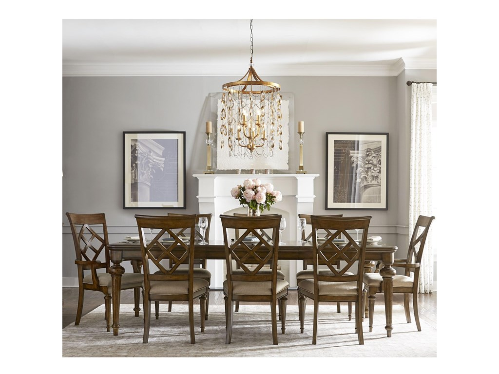 Legacy Classic Latham 9 Piece Dining Set with Diamond Back Chairs ...