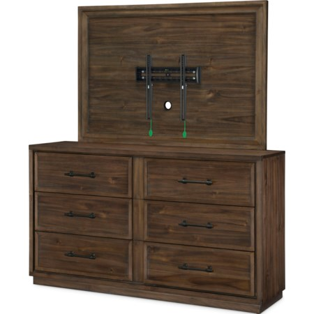 Dresser and TV Frame Set