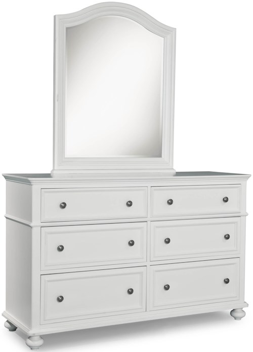 Legacy Classic Kids Madison Classic Dresser with 6 Drawers and Arched Mirror