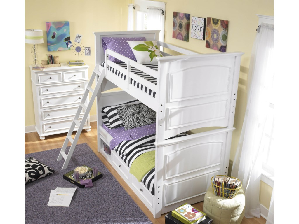 Shown with Twin-over-Twin Bunk and Underbed Storage Unit