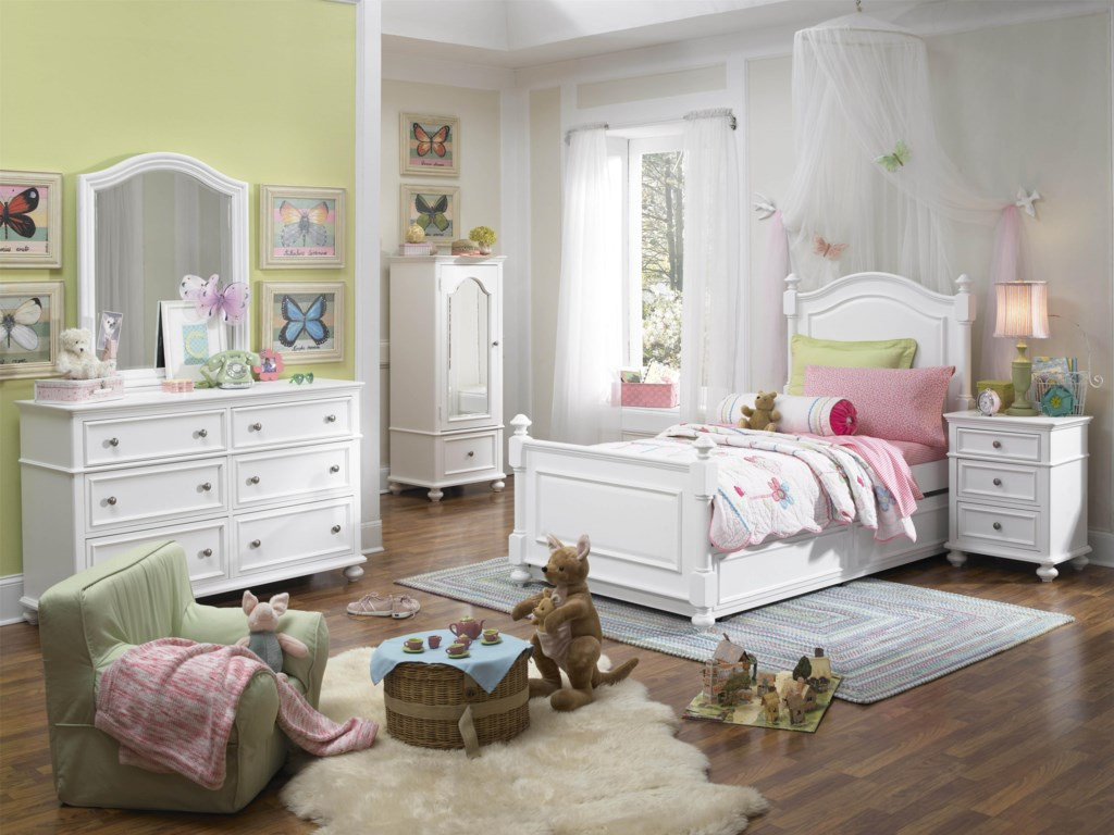 Shown with Dresser, Arched Mirror, Armoire, Low Post Bed with Trundle Drawer and Nightstand