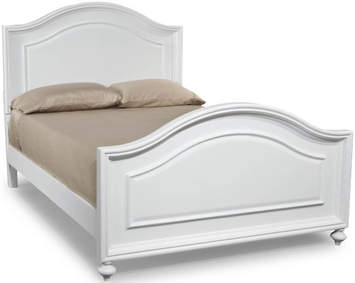 Legacy Classic Kids Madison Full Size Panel Bed with Arched Headboard and Footboard