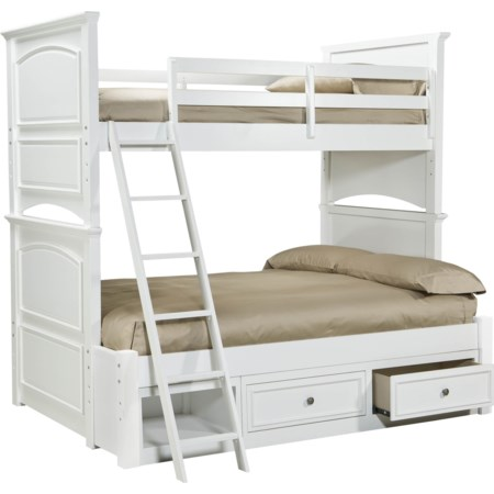 Classic Twin-over-Full Size Storage Bunk Bed