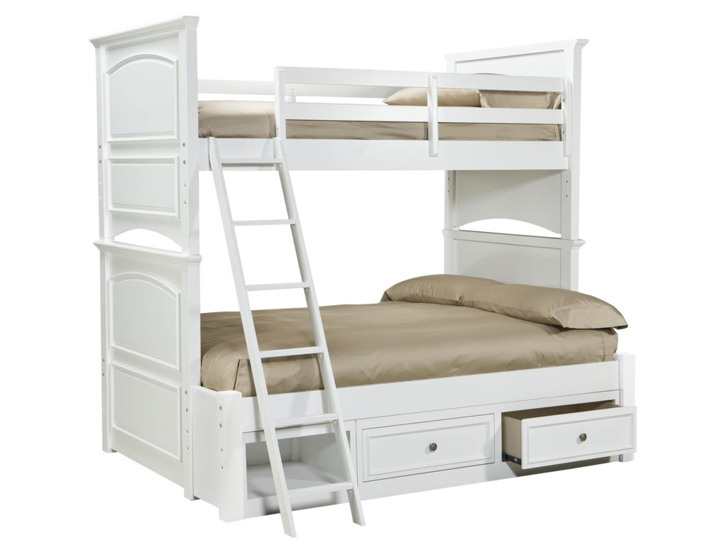 Legacy Classic Kids MadisonClassic Twin-over-Full Size Storage Bunk Bed