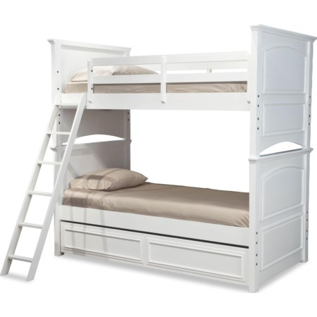 Complete Twin over Full Bunk Bed w/ Trundle