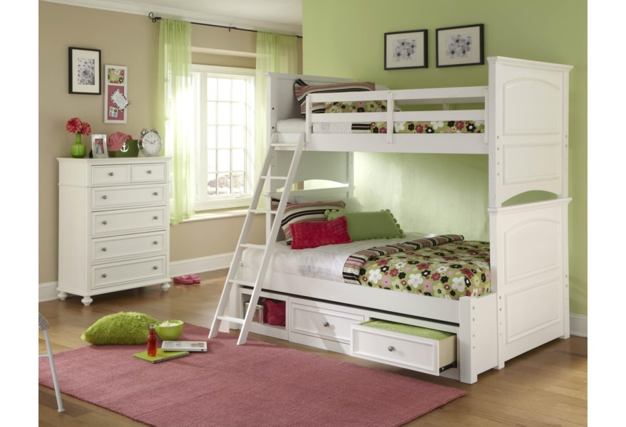 Legacy Classic Kids Madison Classic Twin Over Full Size Bunk Bed Suburban Furniture Bunk Beds