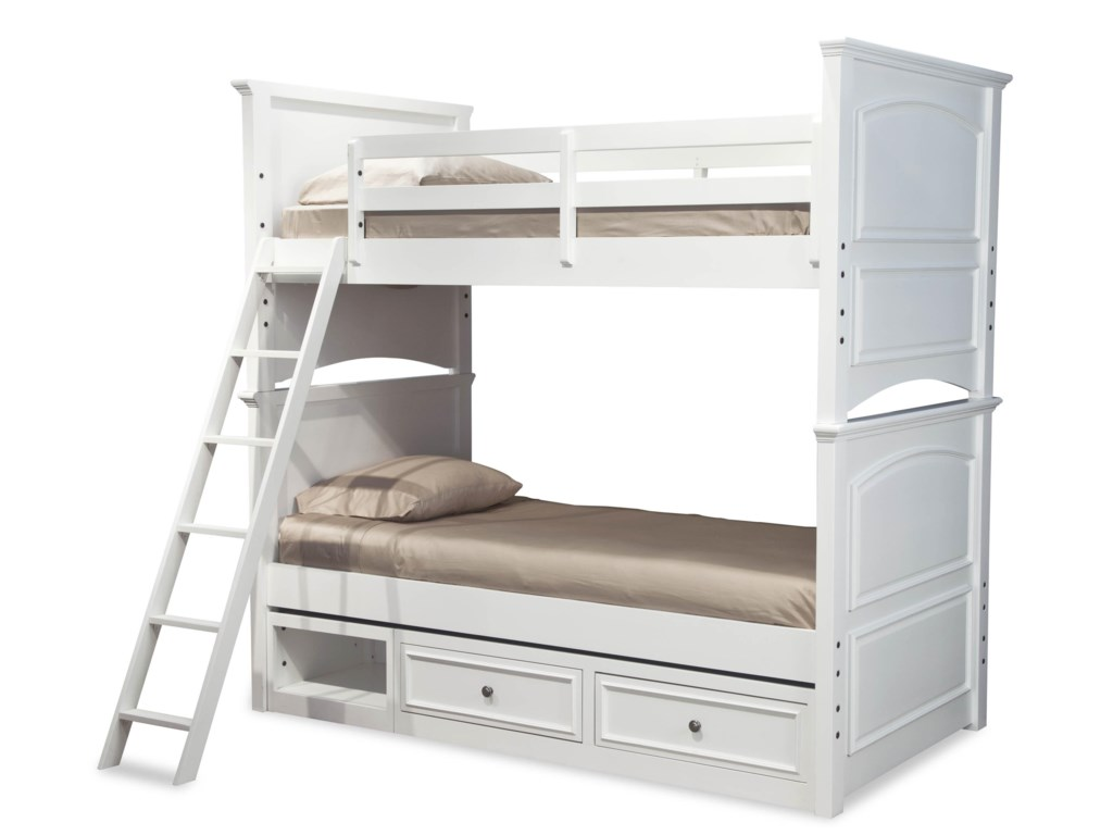 Legacy Classic Kids MadisonClassic Twin-over-Twin Size Storage Bunk Bed