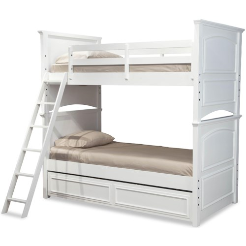 Legacy Classic Kids Madison Classic Twin-over-Twin Size Bunk Bed with Trundle Drawer