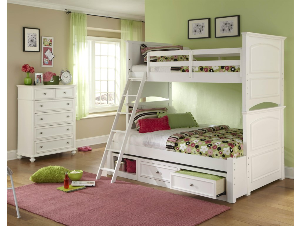Shown with Full Bunk Extension, Underbed Storage Drawer and Chest of Drawers