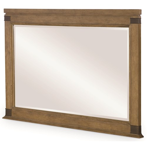 Legacy Classic Metalworks Landscape Mirror with Wood Frame