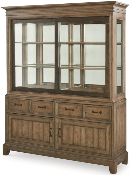 Legacy Classic Metalworks Buffet and Hutch China Cabinet with Touch Lighting