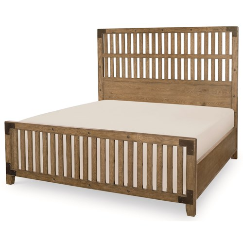 Legacy Classic Metalworks California King Complete Wood Gate Bed