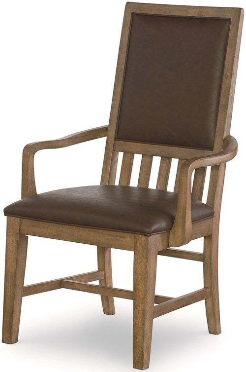 Legacy Classic Metalworks Upholstered Back Arm Chair with Upholstered Seat