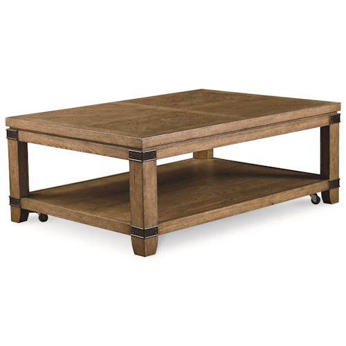 Legacy Classic Metalworks Cocktail Table with Shelf