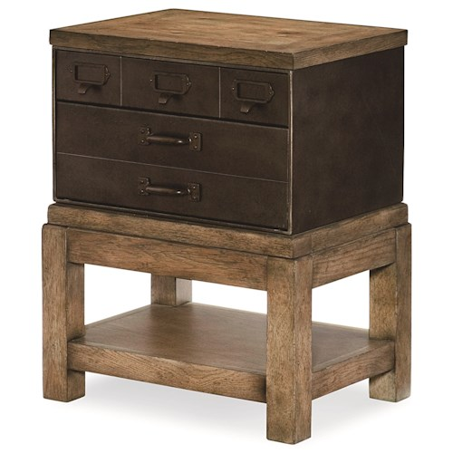 Legacy Classic Metalworks Toolbox End Table  with Dovetail Drawers