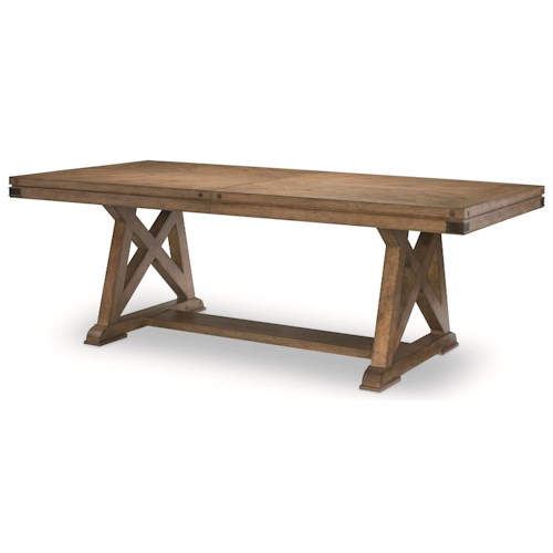 Legacy Classic Metalworks Trestle Table with Leaf