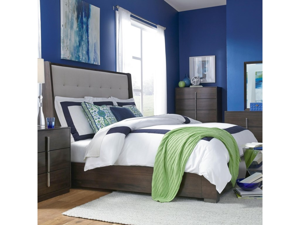 Legacy Classic PaldaoCalifornia King Upholstered Shelter Bed
