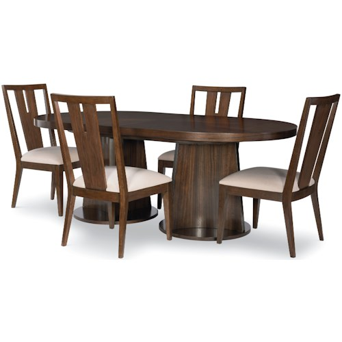 Legacy Classic Paldao 5-Piece Oval Table and Chair Set