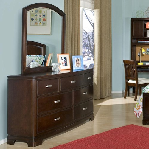 Legacy Classic Kids Park City 7-Drawer Dresser with Arched Mirror