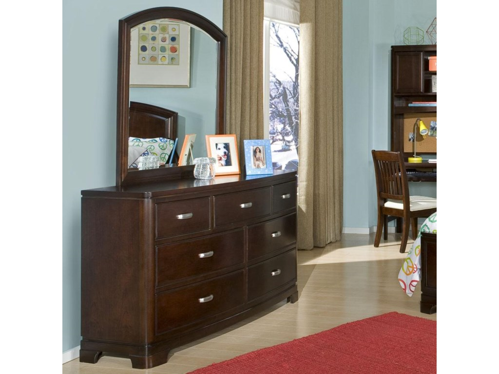 Shown with Optional Adjoining Arched Dresser Mirror