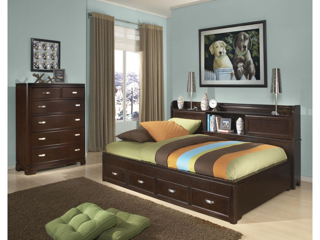Shown in Room Setting with Study Lounge Bed