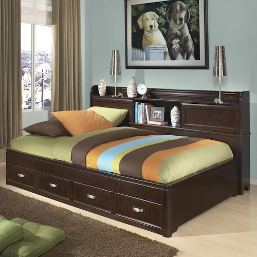 Legacy Classic Kids Park City Twin Size Study Lounge Bed with 2 Drawers