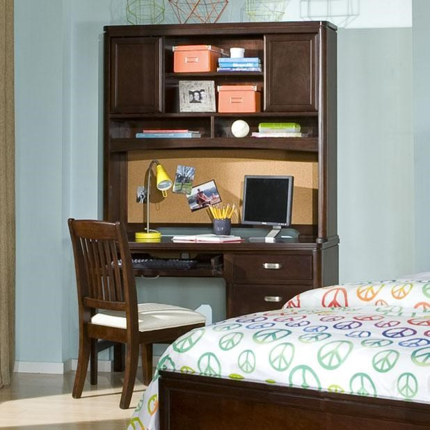 Shown with Optional Desk Hutch and Upholstered Desk Chair