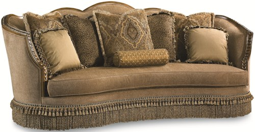 Legacy Classic Pemberleigh Sofa with Nailhead Trim and Exposed Wood Trim