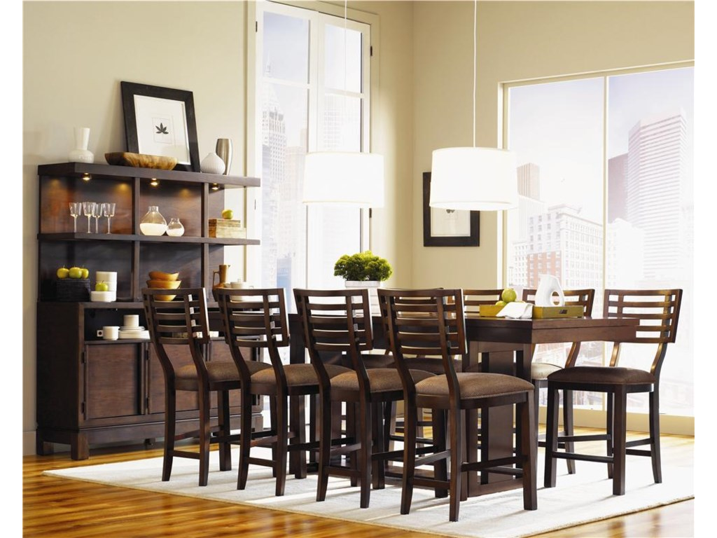 Shown with counter height table set