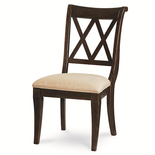 Legacy Classic Thatcher X Back Side Chair with Tapered Legs