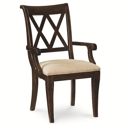 Legacy Classic Thatcher X Back Arm Chair with Tapered Legs