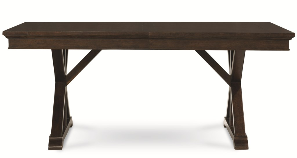 Legacy Classic Thatcher Trestle Table with X Pedestals Sheely s