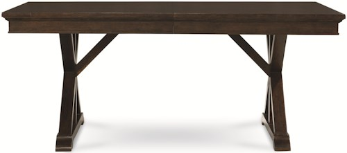 Legacy Classic Thatcher Trestle Table with X Pedestals