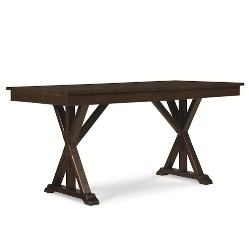 Legacy Classic Thatcher Pub Table with Trestle Shape