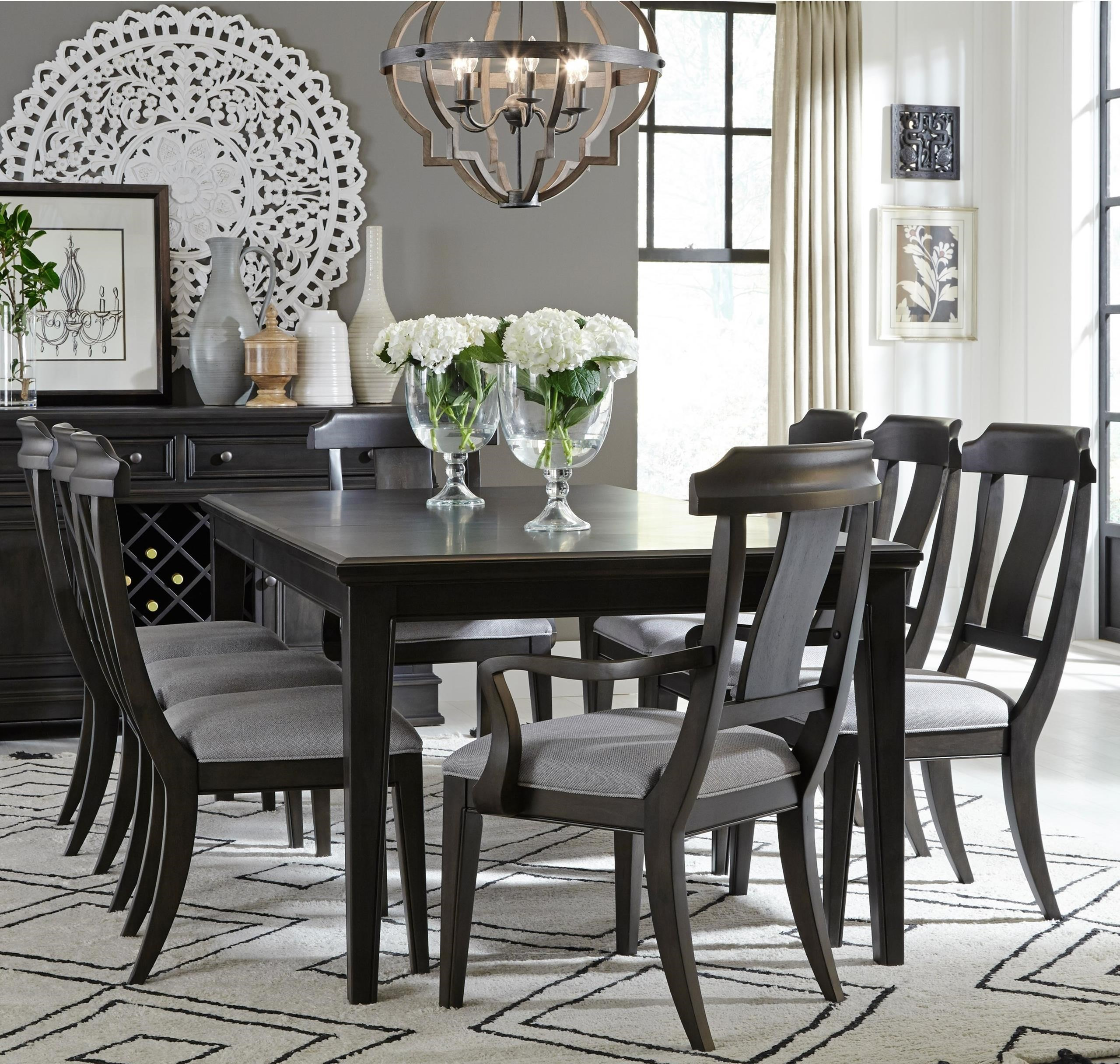Legacy Classic Townsend Transitional Nine Piece Dining Set