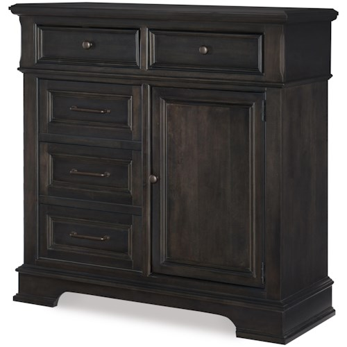 Legacy Classic Townsend Transitional Door Chest with Adjustable Shelves