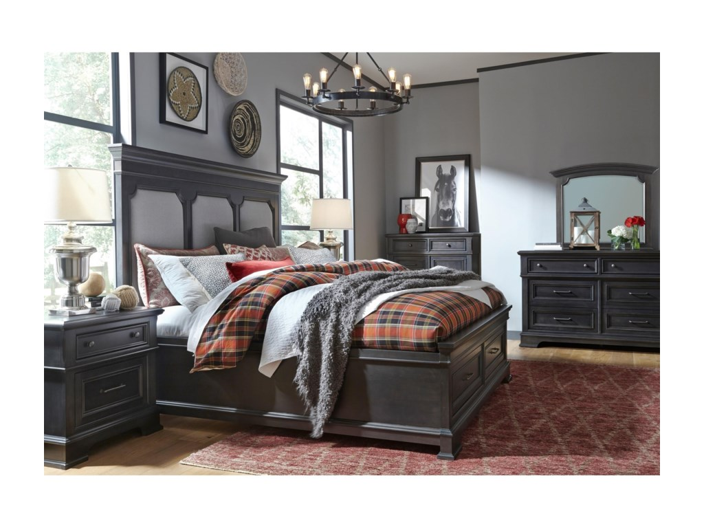 Legacy Classic TownsendUpholstered Queen Storage Bed